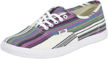 trampki damskie VANS  - AUTHENTIC LO PRO MULTI STRIPE TRUE WHITE