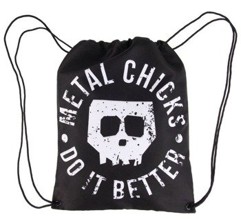 worek / plecak  METAL CHICKS DO IT BETTER - SKULL