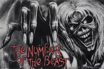 wycieraczka IRON MAIDEN - THE NUMBER OF THE BEAST