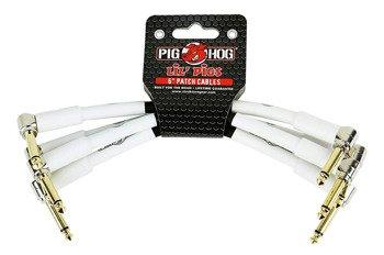 zestaw 4 kabli do efektów PIG HOG PHLIL6 jack kątowy/kątowy / 15 cm