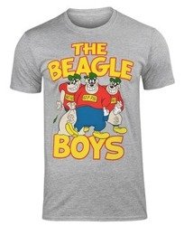koszulka DONALD DUCK - THE BEAGLE BOYS szara