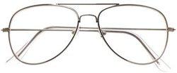 okulary przeciwsłoneczne AVIATOR ZERÓWKI SREBRNY