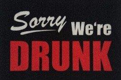 wycieraczka SORRY WE'RE DRUNK