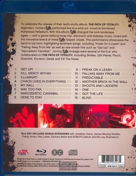KORN: LIVE AT THE HOLLYWOOD PALLADIUM (BLU-RAY+CD)
