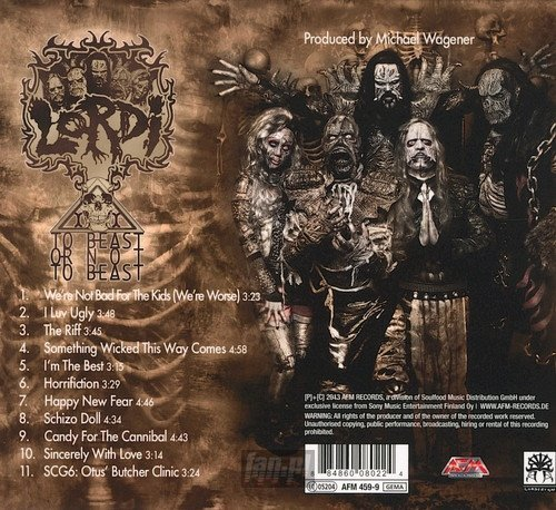 LORDI: TO BEAST OR NOT TO BEAST (CD)