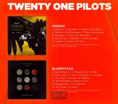 TWENTY ONE PILOTS: TRENCH AND BLURRYFACE (2CD)