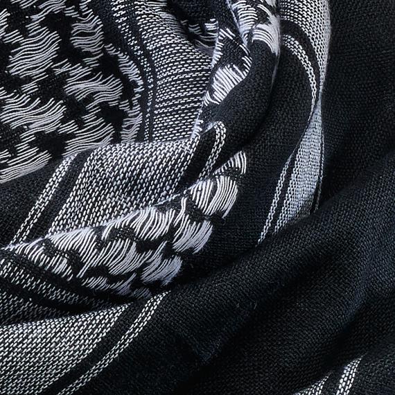 arafatka czarno - biała