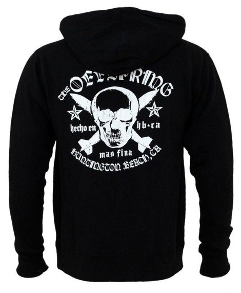 bluza THE OFFSPRING - SKULL AND BOMBS , rozpinana z kapturem
