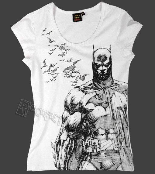 bluzka damska BATMAN - BAT FLY biała