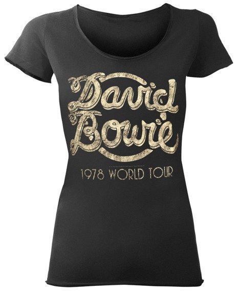 bluzka damska DAVID BOWIE - 1978 WORLD TOUR ciemnoszara