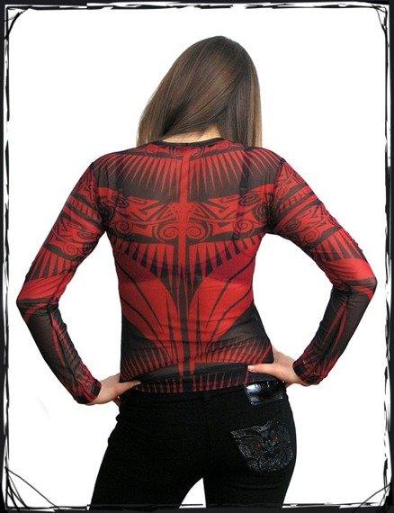 bluzka damska TRIBAL RED