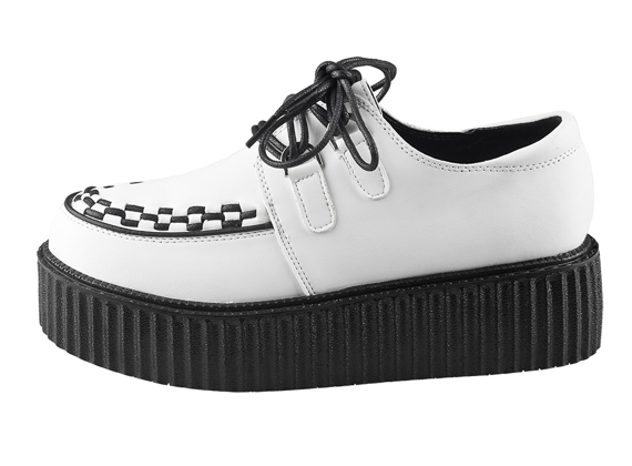 buty damskie creepers SMITHS (WHITE)