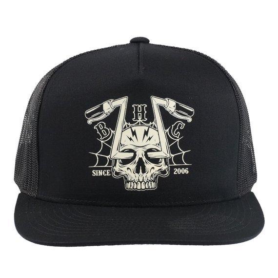 czapka BLACK HEART - CHOPPER SKULL - BLACK