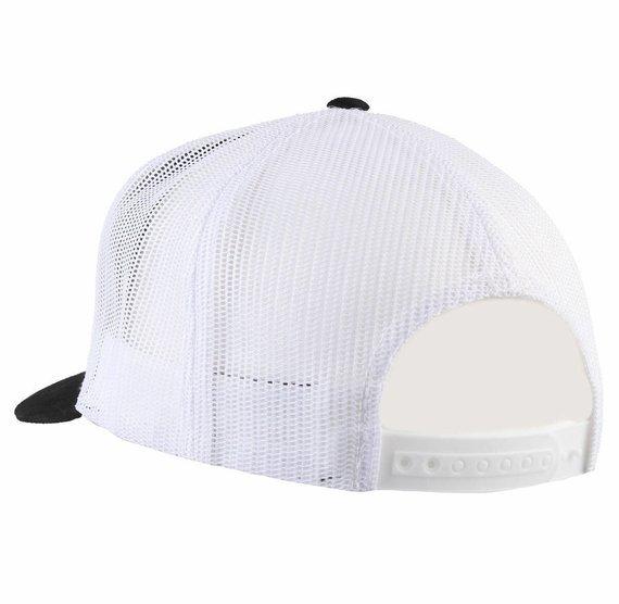 czapka BLACK HEART - CHOPPER SKULL - WHITE