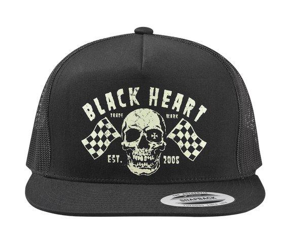 czapka BLACK HEART - FLAG - BLACK