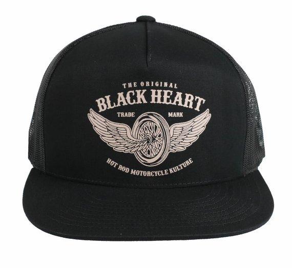 czapka BLACK HEART - WINGS - BLACK