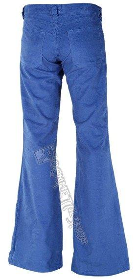 dzwony damskie LOONS HIPSTER CORD light blue, sztruks