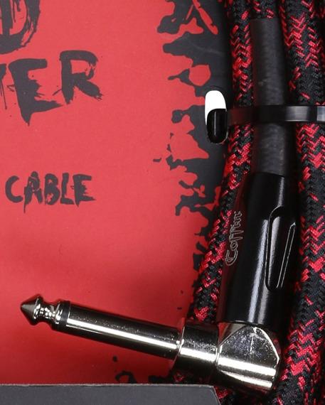 """kabel do gitary COFFIN """"BLOOD SPLATTER"""" CF-ICBS25R / jack kątowy/prosty / 7,6m"""