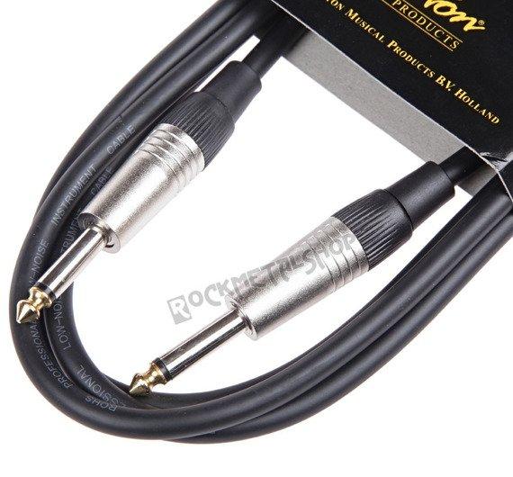 kabel gitarowy BOSTON GC-105-1BK BLACK jack prosty/prosty 1m