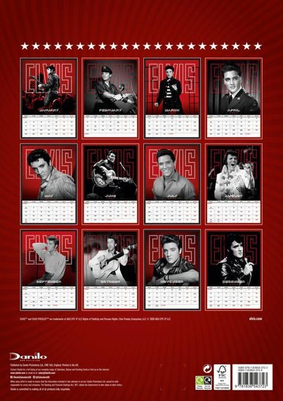 kalendarz ELVIS PRESLEY 2021