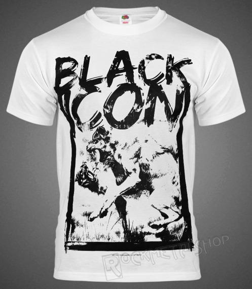 koszulka BLACK ICON - WOLF FIGHT biała (MICON064 WHITE)