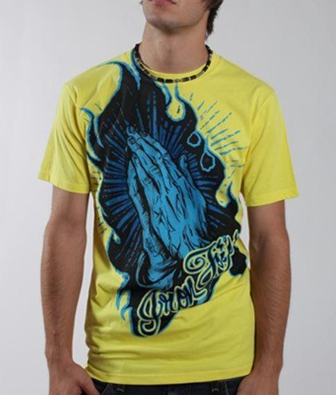 koszulka IRON FIST - PRAY FO ME (YELLOW)