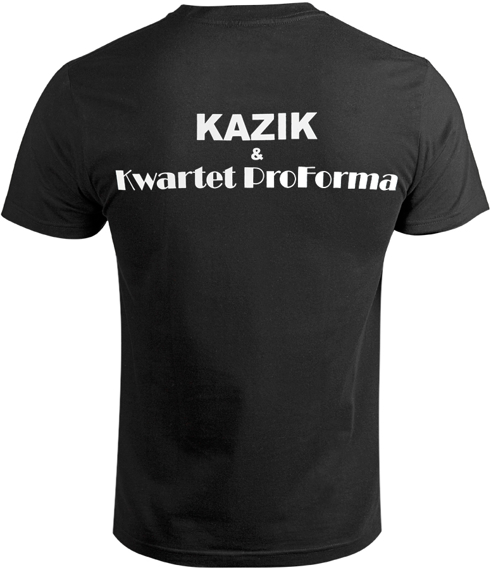 koszulka KAZIK I KWARTET PROFORMA - WIWISEKCJA czarna