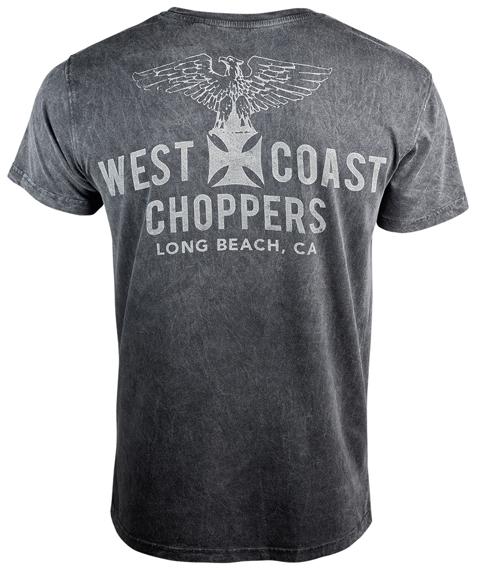 koszulka WEST COAST CHOPPERS - EAGLE VINTAGE, barwiona