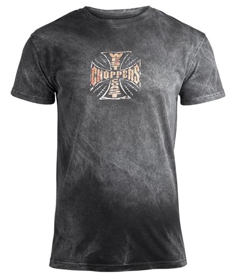 koszulka WEST COAST CHOPPERS - WEB CROSS VINTAGE, barwiona