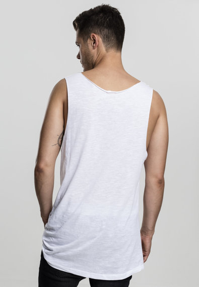 koszulka na ramiączka LONG SHAPED OPEN EDGE LOOSE TANK white