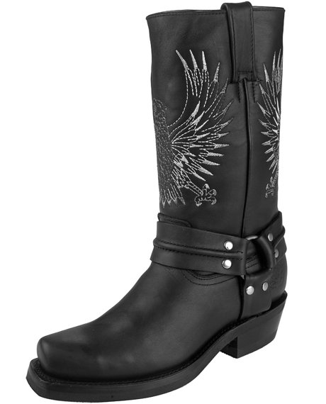 kowbojki GRINDERS - BALD EAGLE (283 BLACK)