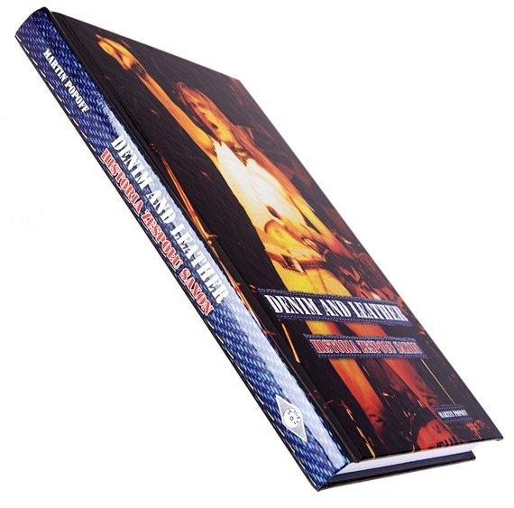 książka DENIM AND LEATHER - HISTORIA ZESPOŁU SAXON - PIERWSZE DZIESIĘĆ LAT I NIE TYLKO - Martin Popoff