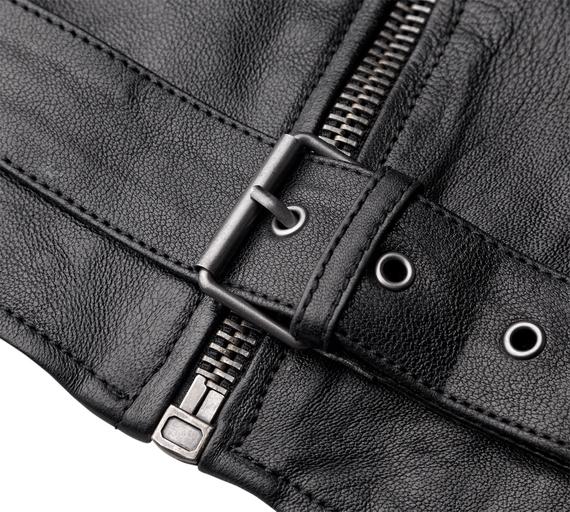 kurtka RAMONESKA RAMONES - ANILINA black
