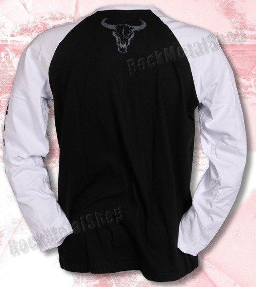 longsleeve BLACK RIVER - BLACK'N'ROLL white/black raglan