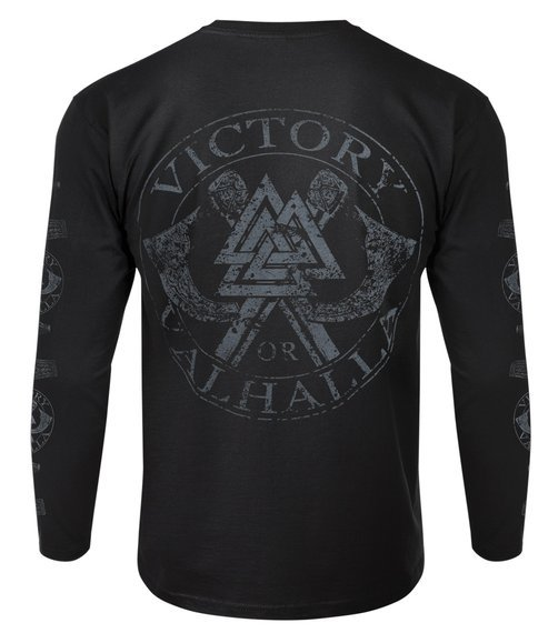 longsleeve VICTORY OR VALHALLA - FUCK CALM...