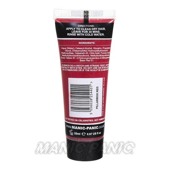 mini toner MANIC PANIC HIGH VOLTAGE CLASSIC HAIR COLOUR 25ml PILLARBOX RED