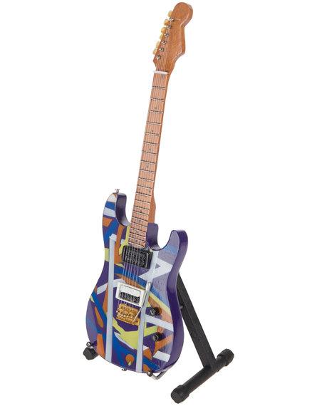 miniaturka gitary EDDIE VAN HALEN - PACER PURPLE STRIPPED