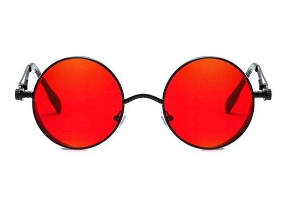 okulary LENONKI STEAMPUNK RETRO RAY RED