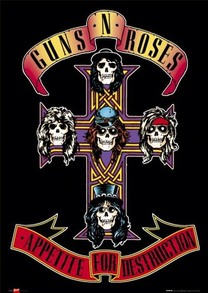 plakat GUNS N ROSES - APPETITE FOR DESTRUCTION