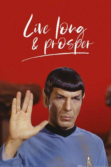 plakat STAR TREK - LIVE LONG AND PROSPER