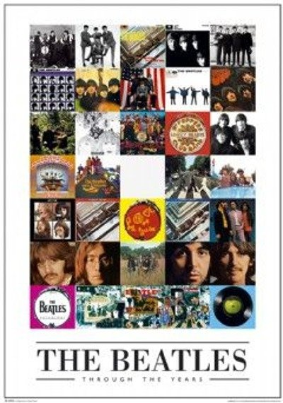 plakat THE BEATLES - THROUGH THE YEARS