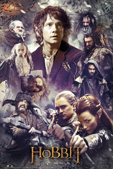 plakat THE HOBBIT - DESOLATION OF SMAUG - COLLAGE