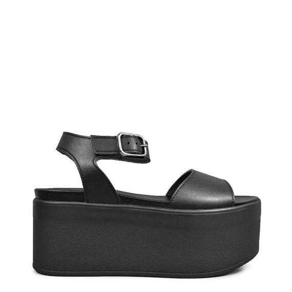 sandały damskie ALTERCORE czarne (ROLLY VEGAN BLACK)