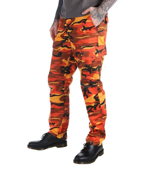 spodnie bojówki MMB US BDU HOSE ORANGE CAMO