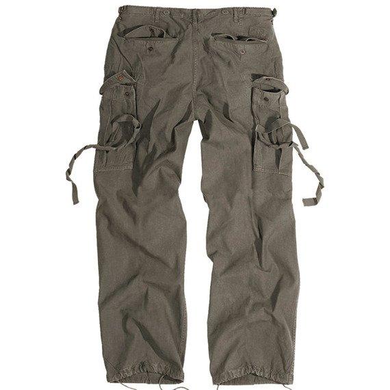 spodnie bojówki VINTAGE FATIGUES M65 WASHED oliwkowe