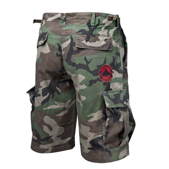 spodnie bojówki krótkie BLACK HEART - ACE OF SPADES
