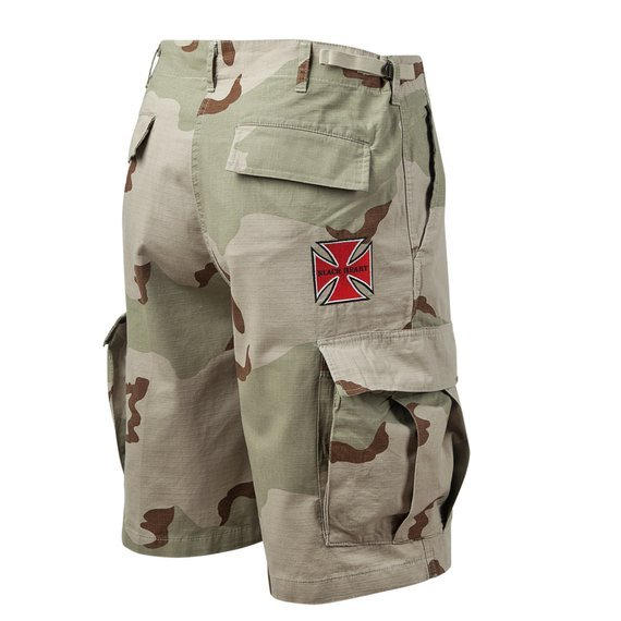 spodnie bojówki krótkie BLACK HEART - Red Cross