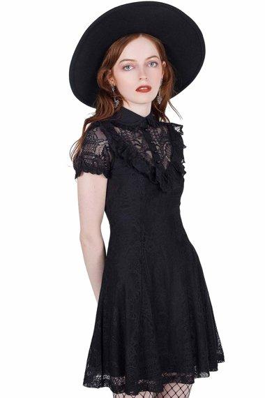 sukienka KILLSTAR - SHE'S LACED (BLACK)
