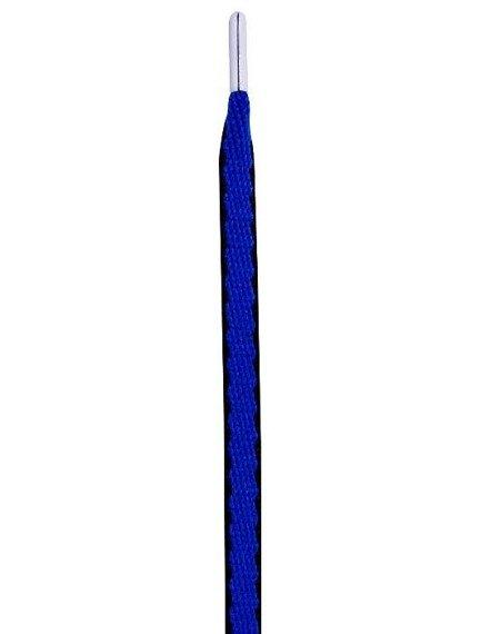 sznurowadła TUBELACES - GOLD ROPE HOOK UP ROYAL/BLACK (130 cm)