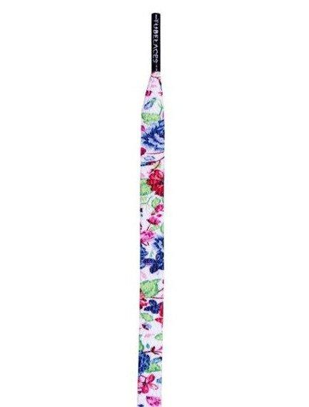 sznurowadła TUBELACES - WHITE FLAT FLOWER SUMMER (130 cm)